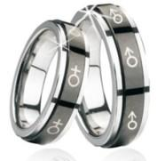 Quality Fashion Stainless steel couple  wedding rings for men and women for sale