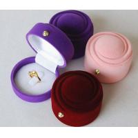 Quality High Quality Velvet Earrings Ring Jewelry Gift Box Case for sale