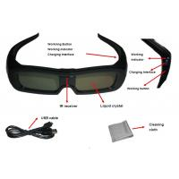 China Black Frame Universal Active Shutter 3D Glasses For South Korea TV on sale
