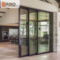 Quality Interior Aluminium Sliding Doors With Glass Inserts For Living Room for sale