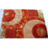 Quality Orange Color Polyester Mixed Malai Dori Shaggy Carpet Handtufted Shaggy Carpet for sale