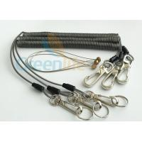 Quality Safety Rope Wire Steel Coiled Lanyard For Working On Scaffold 3Meter Max Stretch for sale
