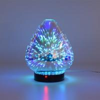 Quality 3D Color Glass Electronic Aroma Diffuser Essential Oil Aromatherapy Humidifier Aromatherapy Sprayer for sale