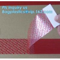 China Warranty open void sticker security seal label tamper proof stickers,transparent warranty void seal labels bagplastics on sale