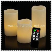 Quality Battery Operated LED Wax Candle W Remote Control for sale