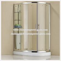 Quality Corner Simple Tempered Glass Bathroom Simple Shower Room Glass for sale