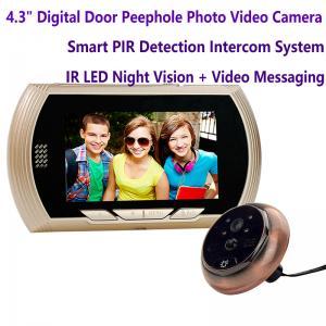 "4.3"" Digital Door Peephole Viewer Photo Video Camera Recorder Home Security Smart PIR Video Doorbell IR LED Night Vision"