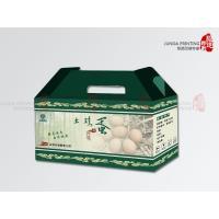 Custom Printing Paper Box With Paper Handle , Corrugated Paper Box For Eggs