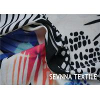 China Print Sublimation Printed Polyester Fabric , Interlock Knitting Brushed Poly Fabric on sale