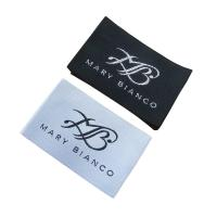 China custom brand name labels for clothes woven label garment sewing label tags factory on sale
