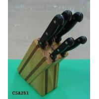 Quality The Knife Set with A Wooden Block for sale