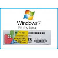 Quality Microsoft Windows 7 Product Key Codes Genuine OEM License Activation Online for sale