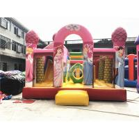 Quality Big Pink Princess Inflatable Bouncer , Professional Commercial Bounce House for sale