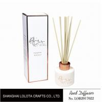 White Color Bottle Home Reed Diffuser With Hot Stamping / Frost Printed