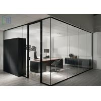 Buy Aluminium Clear / Frosted Glass Office Partitions Interior Soundproof  At Wholesale Prices ...