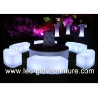 Quality 120CM * 40CM * 40CM LED cube stools / Chair for bars , night clubs , wedding for sale