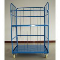 Quality Storage Wire Mesh Cargo Folding Container Warehouse Steel Cage Bin 500kg for sale