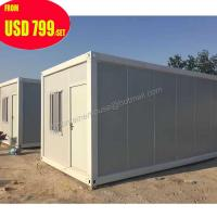 Quality duplex foldable folding flat pack prefab shipping container house for sale
