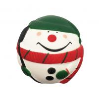 Quality Slow Rising Santa Clause Snow Man Squeeze Stress Ball Christmas Squishy Toys for sale