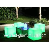 Colorful led cube chair / table With Built - in Certified Rechargeable Lithium