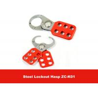 Quality 25mm Red Nylon PA Steel Vinyl Coated Safety Lockout Hasp for Padlocks for sale