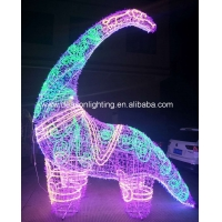 Quality large outdoor christmas lighted dinosaur for sale