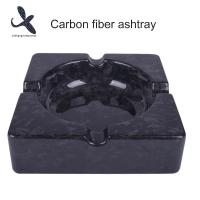 China 100% Real 3K Carbon fiber cigar ashtray for smoking  OEM carbon fiber ashtray - solid on sale