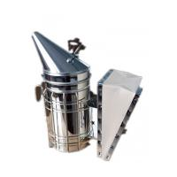 Quality Galvanized Steel  Bee Hive Smokers Star American Style Bee Smoker With Leather Blow Box For Beekeepers for sale
