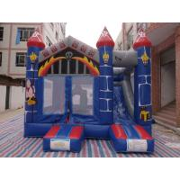 China 0.55mm PVC Castle Bounce House / Jumpy Houses With Slide CE Certification on sale