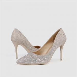 Quality ZM010 9628-6 Trend New Pointed Sequins Pure Color All-Match Stiletto High Heels Nightclub Women'S Shoes Single Shoes for sale