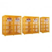 Quality Gas Cylinder Storage Cabinets powder coated for USA , Europe safety storage for sale