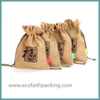 Quality small jute bag, jute gift pouch for sale