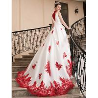 Buy Charming Applique Lace Sleeveless Prom Dresses New Arrival Evening Dresses at wholesale prices