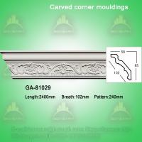 Quality Fashion carved pu crown moldings cornice molding for sale
