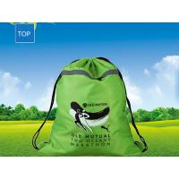Quality Personalized Advertising Drawstring Backpack W35*H47Cm Silk-Screen Printing for sale