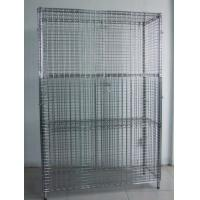 """Buy cheap 40"""" X 18"""" X 72"""" Wire Utility Cart , Logistics Laundry Wire Roll Cage Container from wholesalers"""