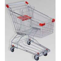 Quality 150L Large Elderly Supermarket Metallic Shopping Cart With Two Tier Wheels for sale