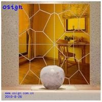 Quality gold sliver acrylic mirror sheet for sale