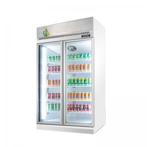 Quality Commercial Beer Soda Soft Drinks And Cold Beverage Upright Display Coolers With 2 Glass Front Door for sale