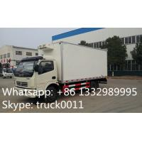 China Dongfeng LHD 4*2 chaochai 95hp diesel 3tons-5tons refrigerated truck for sale, hot sale dongfeng 5tons cold room truck on sale