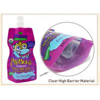 China custom Made BPA Free Refillable Baby Food Pouches Reusable Spout Doypack on sale