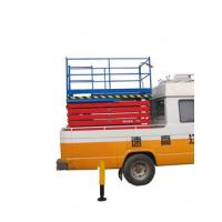 Industrial adjustable 6 meters telescoping fixed truck mounted manlift for hotel exhibition hall