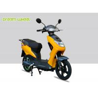 Quality Yellow Black Narrow Body Pedal Assist Electric Bike 60-70km Distance , EEC Standard for sale