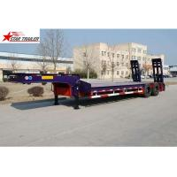 Quality Hydraulic Semi Low Loader Trailer , Reinforced Lowboy Heavy Equipment Trailers for sale