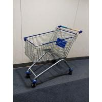 Quality Four Wheels European Metal Shopping Trolley Cart With Baby Seat for sale