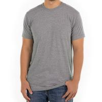 Quality Grey Men Blank 100% Cotton Casual T Shirts Design Round Neck Digital 3d Printing for sale