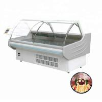 China Cheap Curved Bakery Glass Meat Frozen Food Display Showcase food display showcase on sale