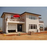 Quality Galvanized Ready Made Steel Structure Villa , Two Story Prefabricated Luxury Villas for sale