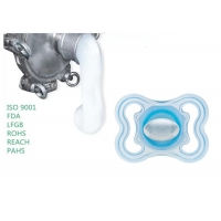 China Hardness 15 Hot Sale Custom Liquid Silicone Rubber Baby Bottle Nipple Non-toxic Silicone Pacifier on sale