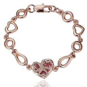Quality Heart crystal women bracelet wedding bracelets 4 colors TJ0135 for sale